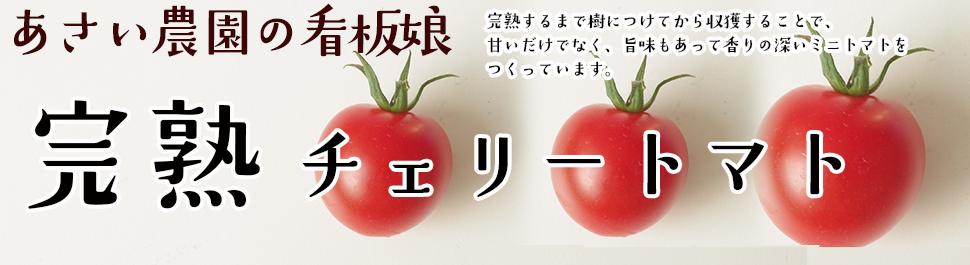 甘くて旨味の濃い完熟チェリートマト